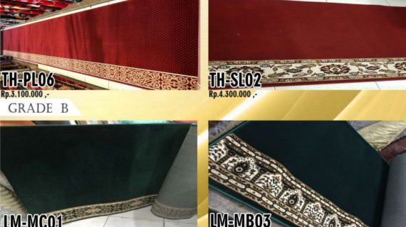 Harga karpet Masjid Lengkap Dari Grade A Hingga Grade C