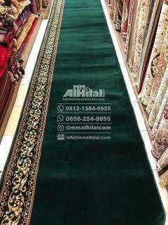 Karpet Masjid Seri Grand Mosque hijau polos