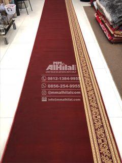 Karpet Masjid Seri Grand Mosque merah polos kembang