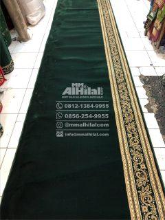 Karpet Masjid Seri Grand Mosque hijau polos kembang