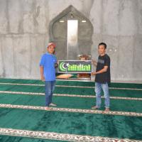 Pasang Karpet LLRJ di Masjid Al Mujahidin Pakem Sleman Yogyakarta