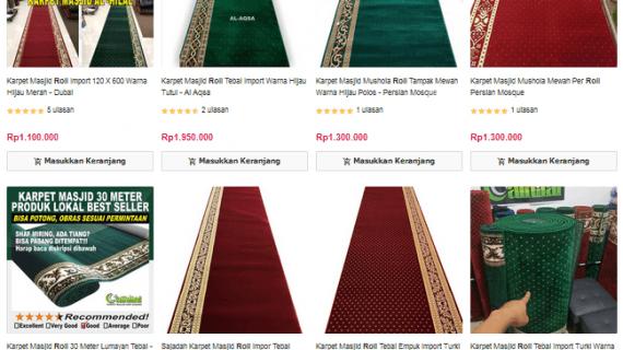 Harga Karpet Masjid Per Roll Di Toko Al Hilal Carpets