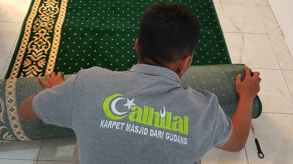 Harga Karpet Masjid Tipis Polos Lebar 120cm