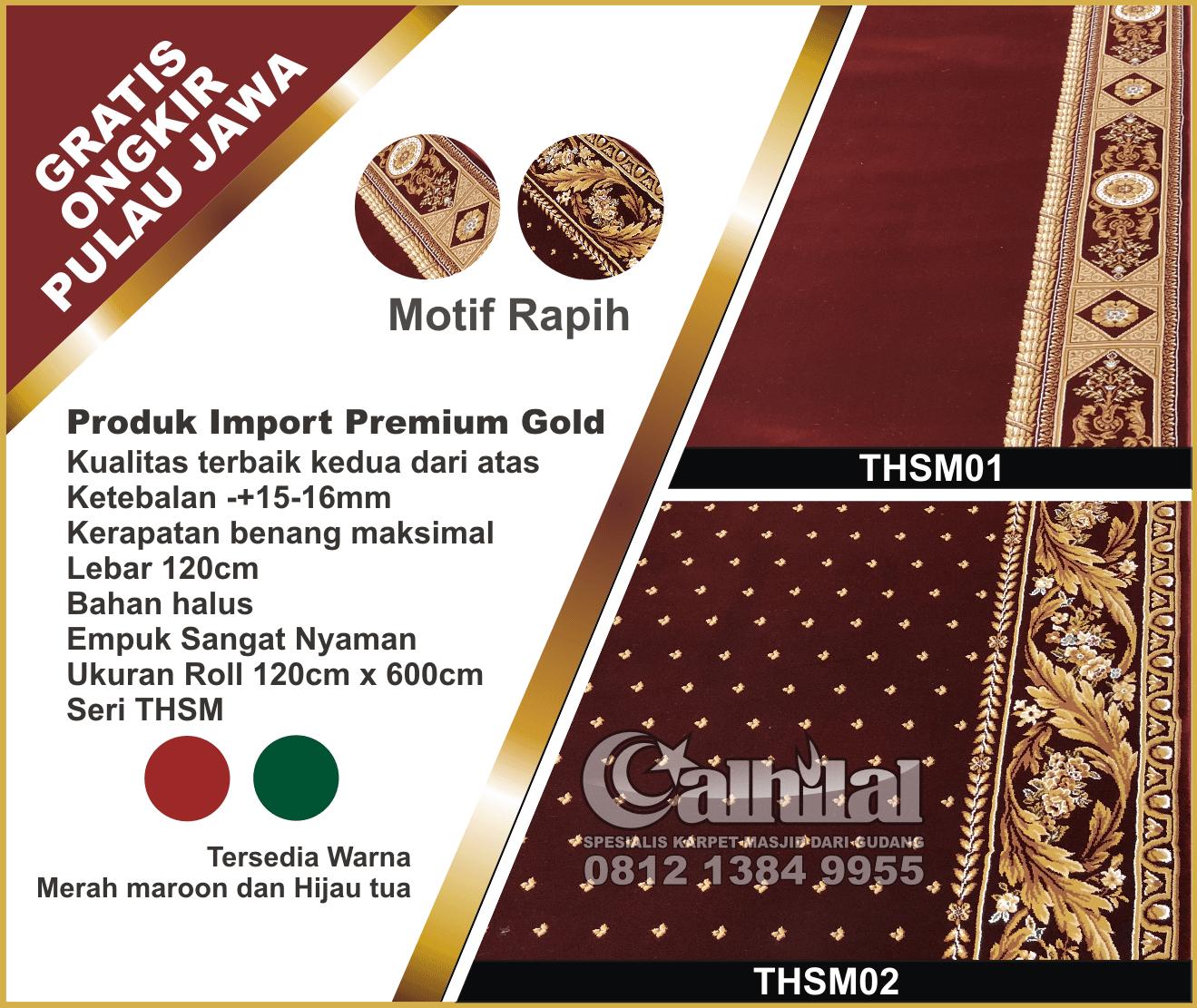 Karpet masjid premium gold